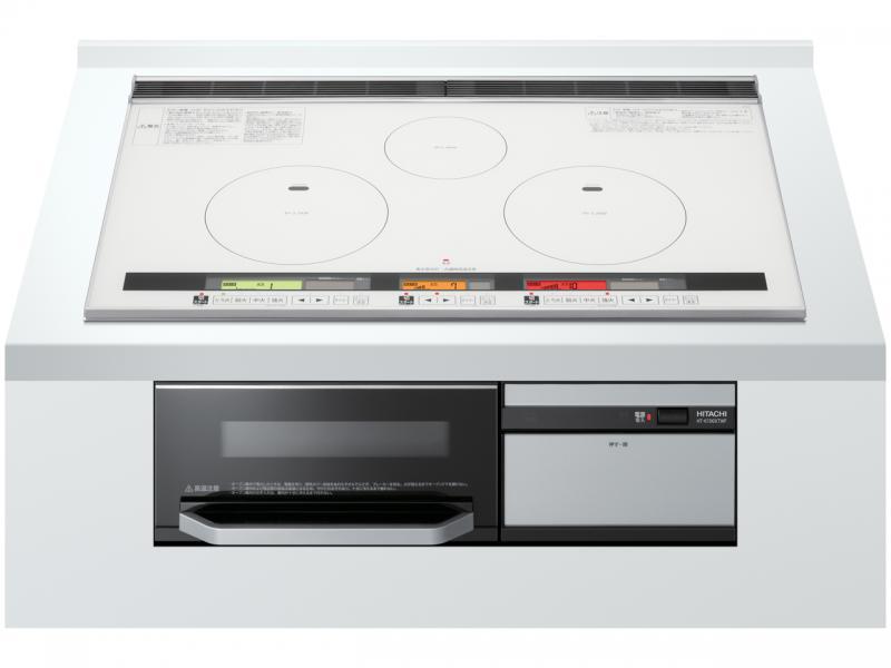 日立 3口IH+オーブン機能 75cm HT-K100XTWF(W)